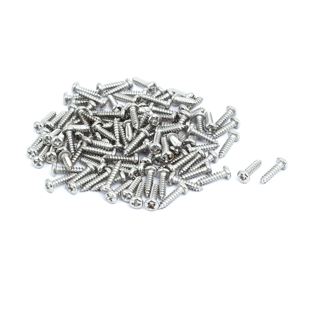 M3x12mm 304 Stainless Steel Phillips Drive Pan Head Self Tapping Screws 150pcs
