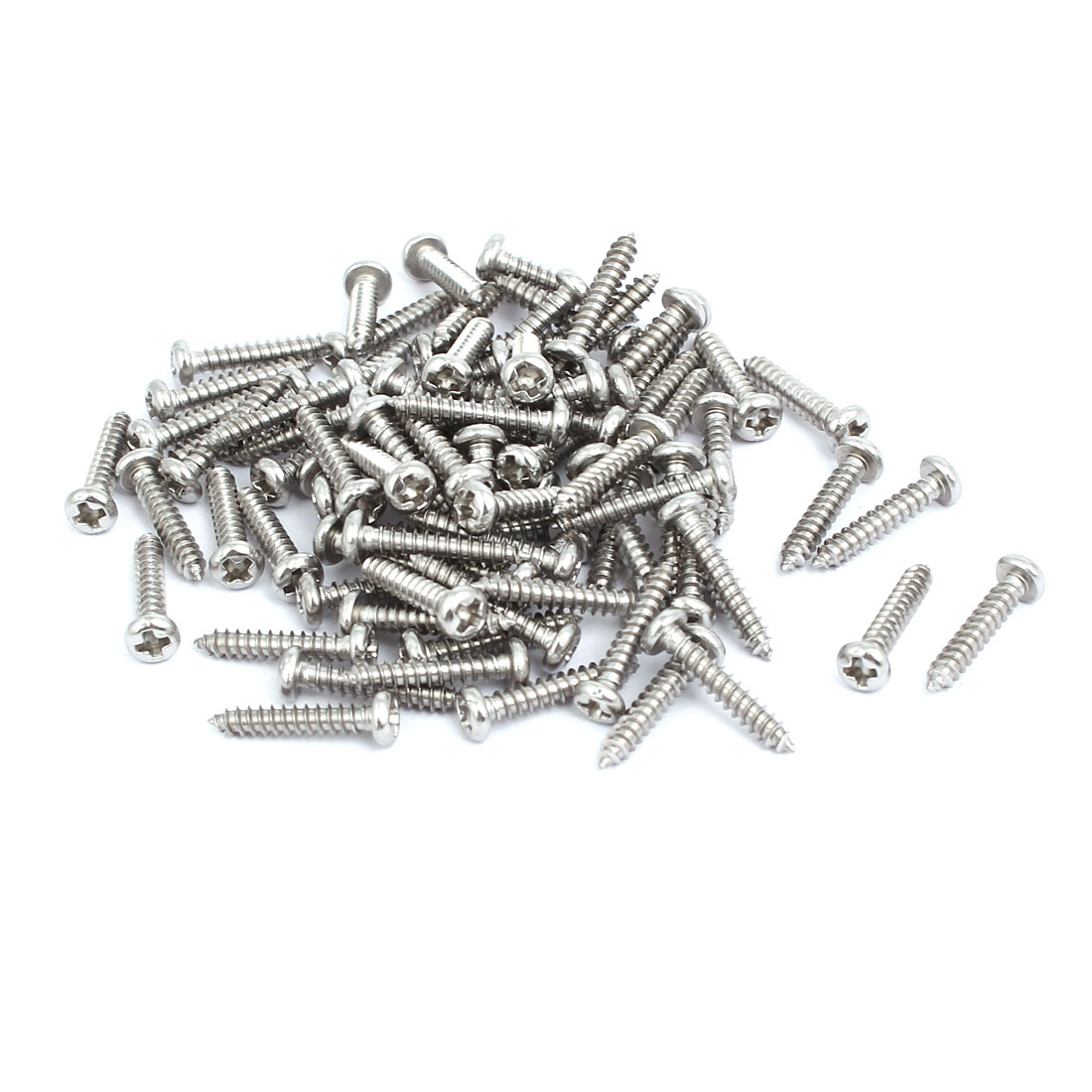 M3x16mm 304 Stainless Steel Phillips Drive Pan Head Self Tapping Screws 100pcs