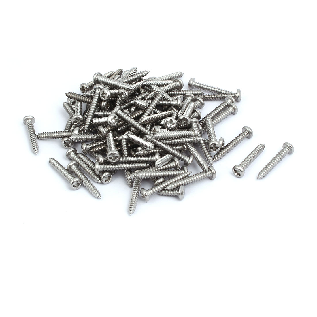 M3x20mm 304 Stainless Steel Phillips Drive Pan Head Self Tapping Screws 100pcs