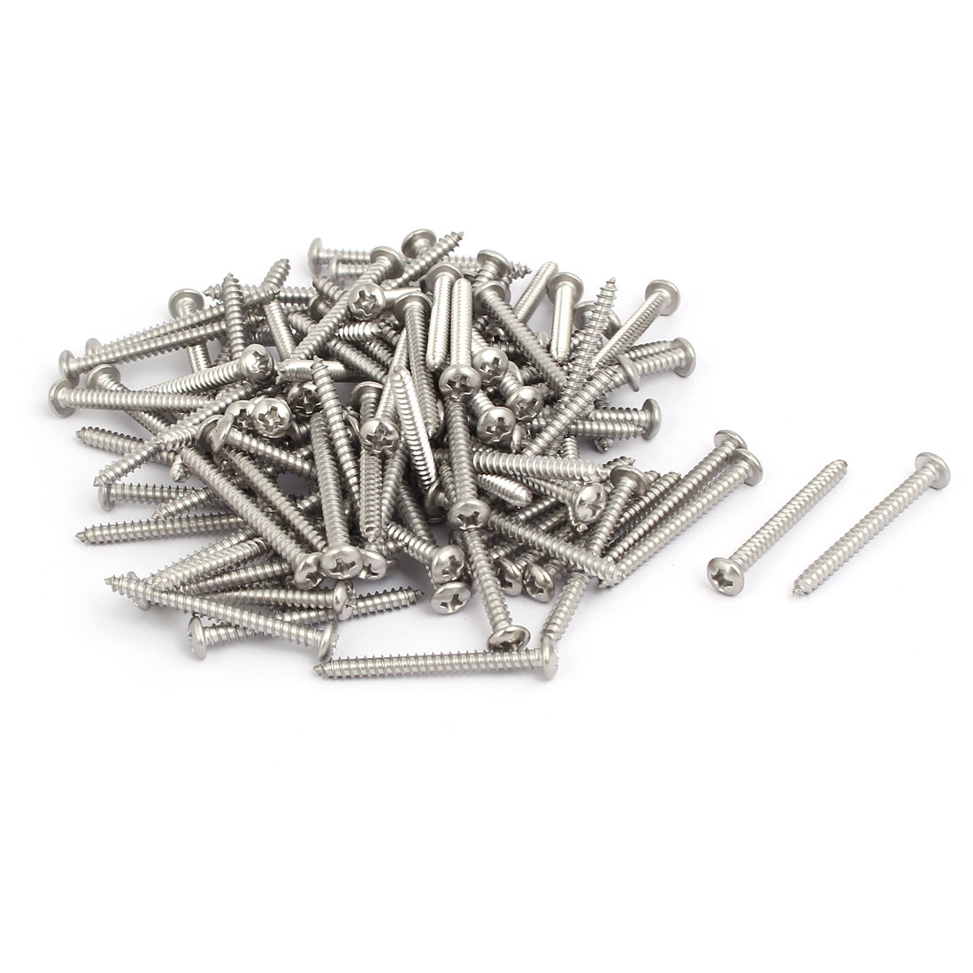 M3.5x35mm 304 Stainless Steel Phillips Round Pan Head Self Tapping Screws 150pcs