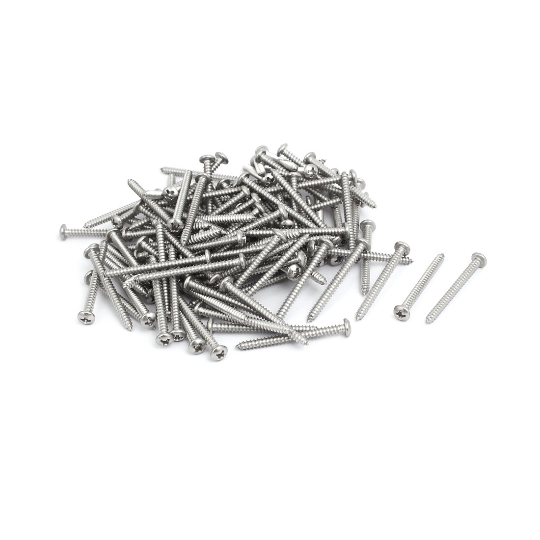 M3.5x40mm 304 Stainless Steel Phillips Drive Pan Head Self Tapping Screws 150pcs