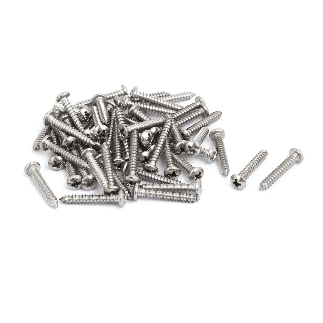 M4x25mm 304 Stainless Steel Phillips Drive Pan Head Self Tapping Screws 50pcs