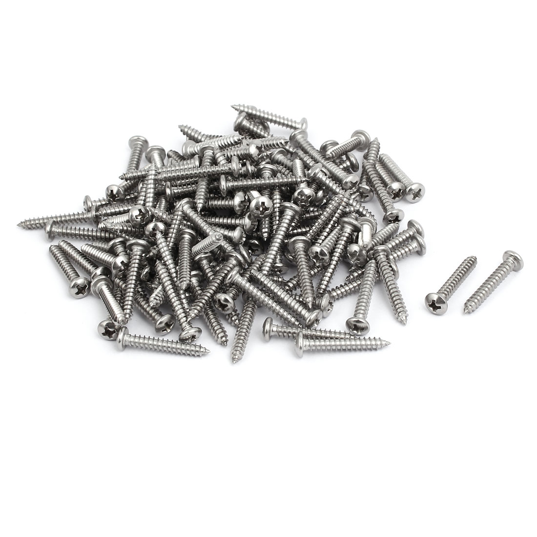 M4x25mm 304 Stainless Steel Phillips Drive Pan Head Self Tapping Screws 150pcs