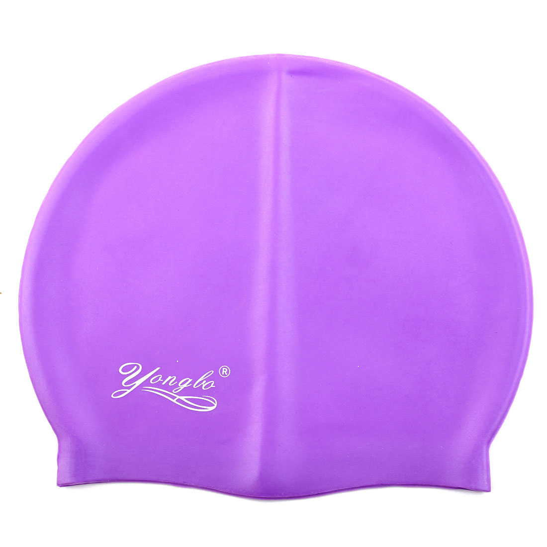 Unisex Silicone Dome Shaped Non-slip Stretchable Swimming Cap Portable Bathing Hat Purple