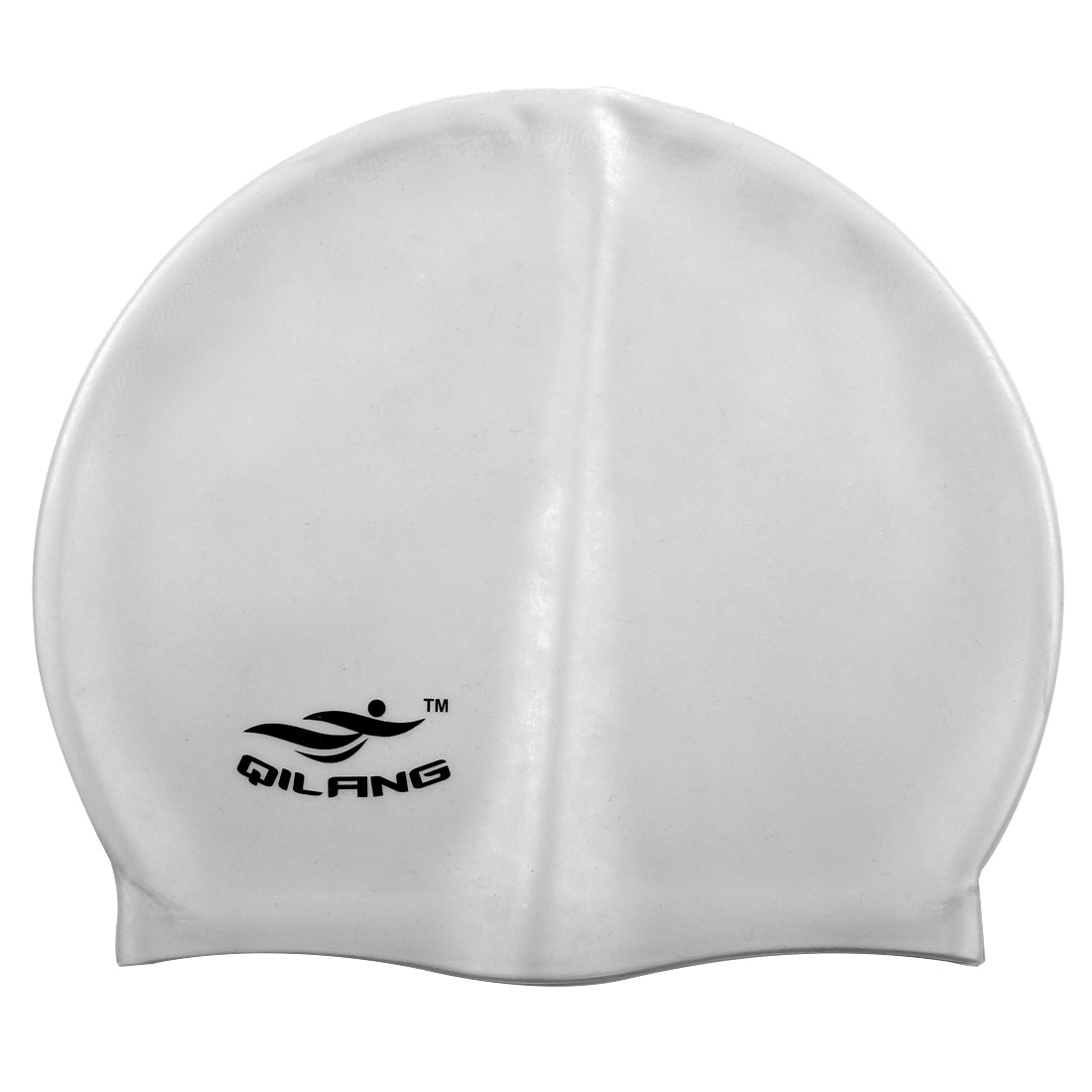 Unisex Silicone Dome Shaped Non-slip Stretchable Swimming Cap Portable Bathing Hat Gray