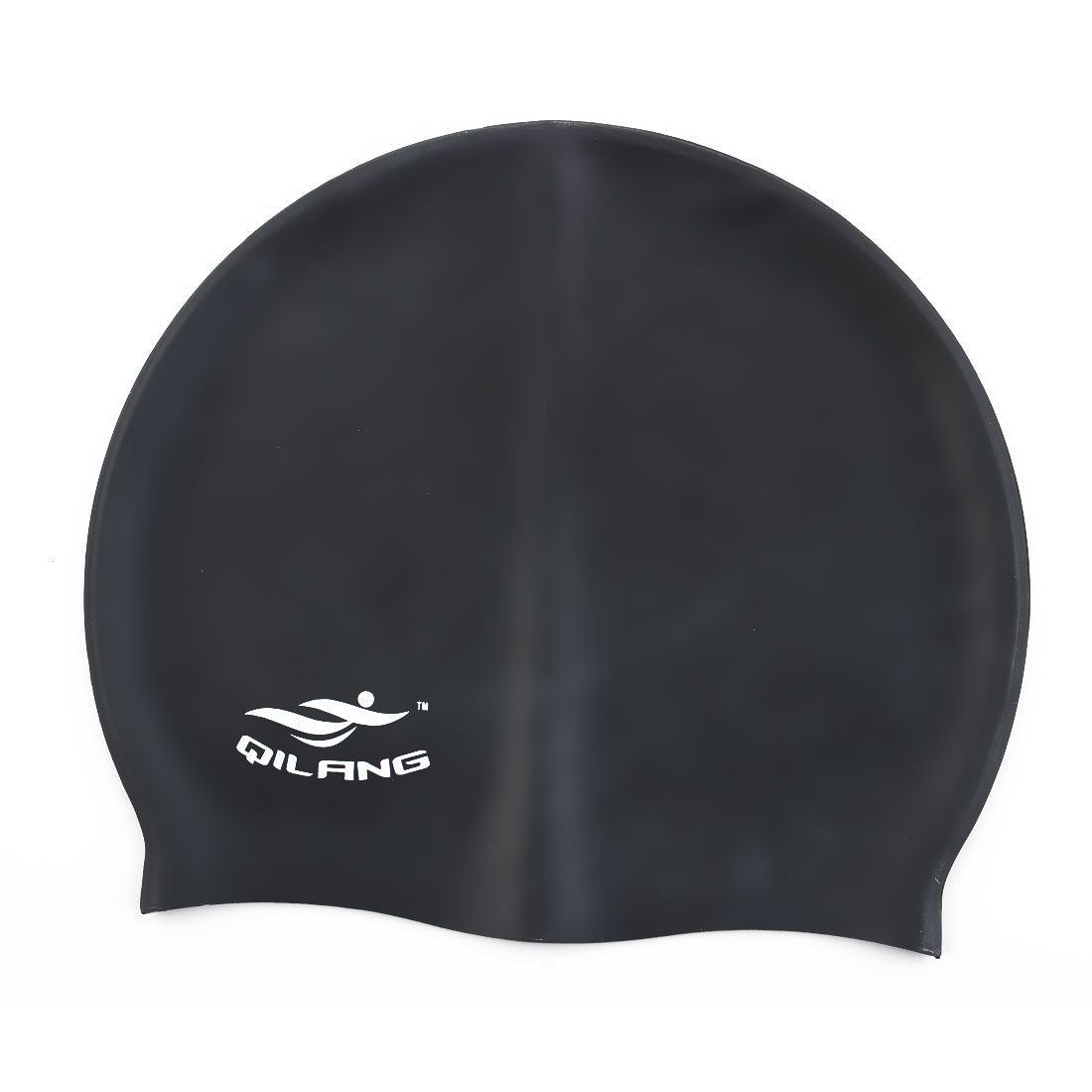 Unisex Silicone Dome Shaped Non-slip Stretchable Swimming Cap Portable Bathing Hat Black