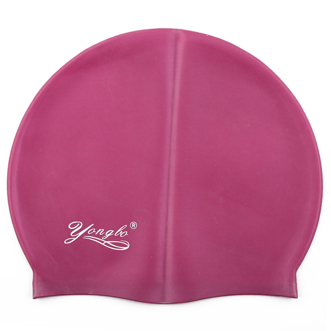 Unisex Silicone Dome Shaped Non-slip Stretchable Swimming Cap Portable Bathing Hat Burgundy