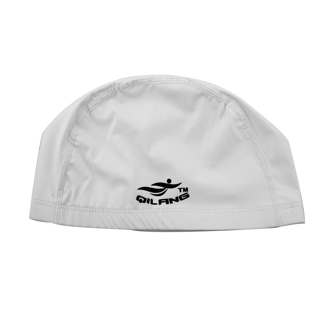 Unisex PU Dome Shaped Non-slip Stretchable Swimming Cap Portable Bathing Hat White