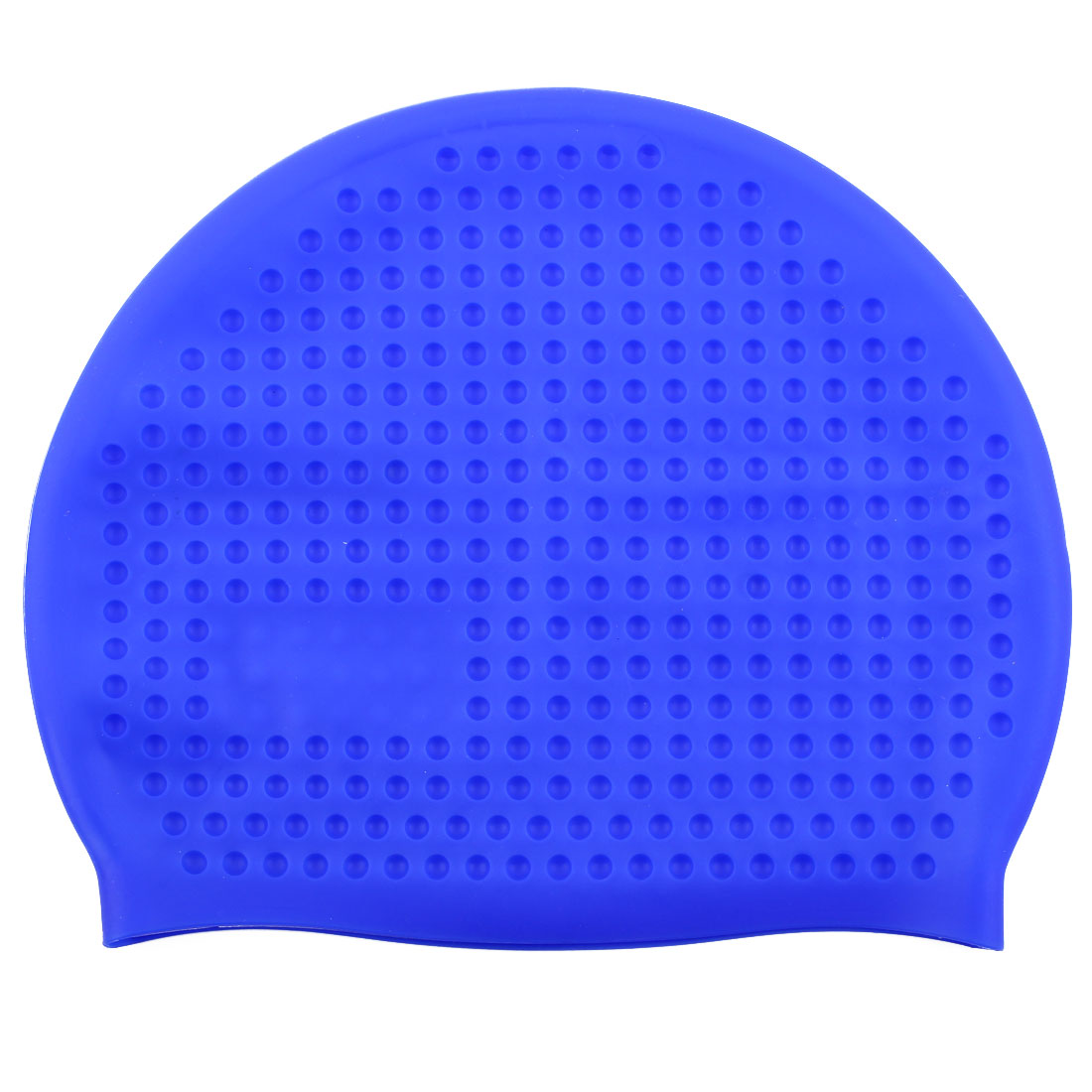 Adult Silicone Dome Shaped Water Resistant Elastic Swimming Cap Portable Bathing Hat Sapphire Blue
