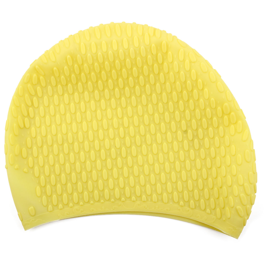 Adult Unisex Silicone Dome Shape Anti-slip Elastic Swimming Cap Underwater Bathing Hat Yellow