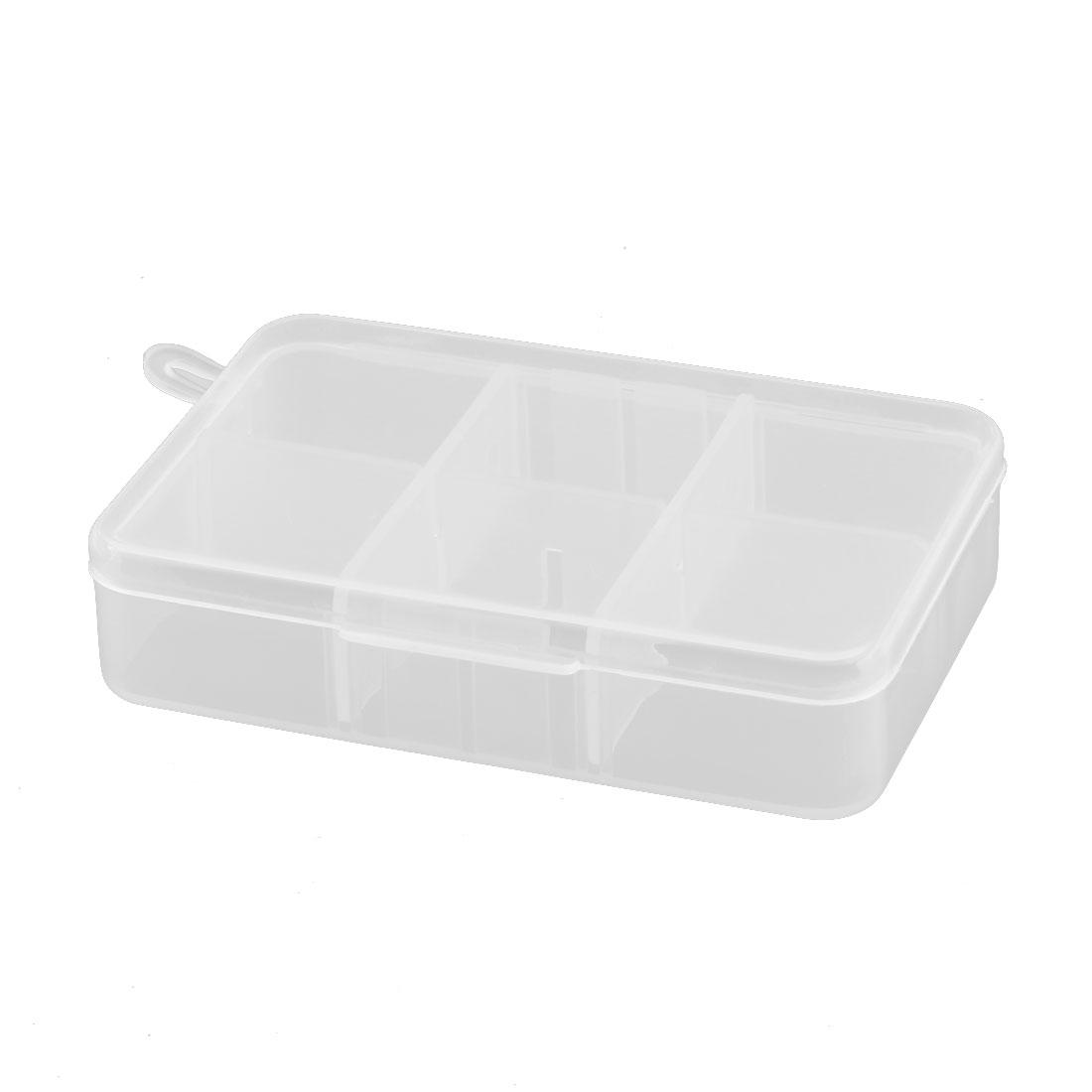 Plastic Adjustable 6 Compartments Sundries Fishhook Trinket Storage Case Box