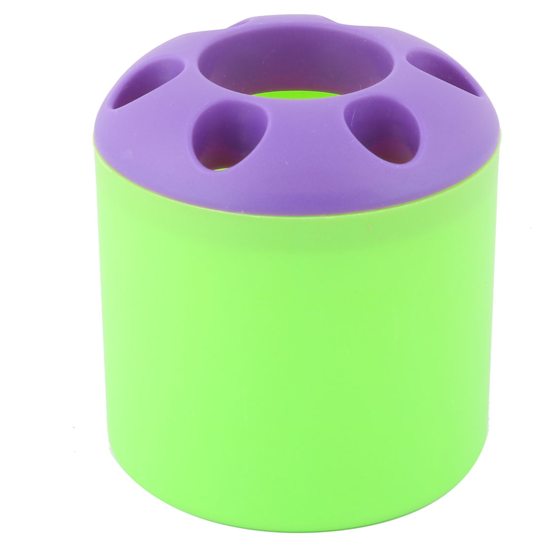 Bathroom Plastic Round Toothpaste Toothbrush Storage Holder Rack Green Purple