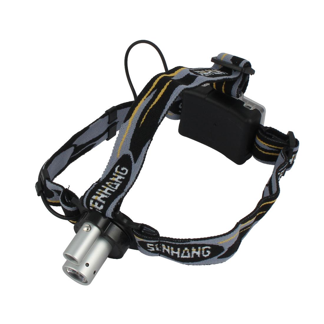 Zoomable Light Outdoor Biking Camping Hiking Dual Lighting Source Head Lamp LED Headlamp