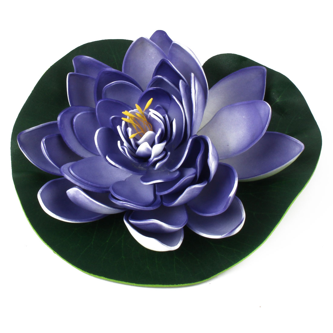 Aquarium Fish Tank Pond Foam Artificial Floating Lotus Flower Ornament Green Purple