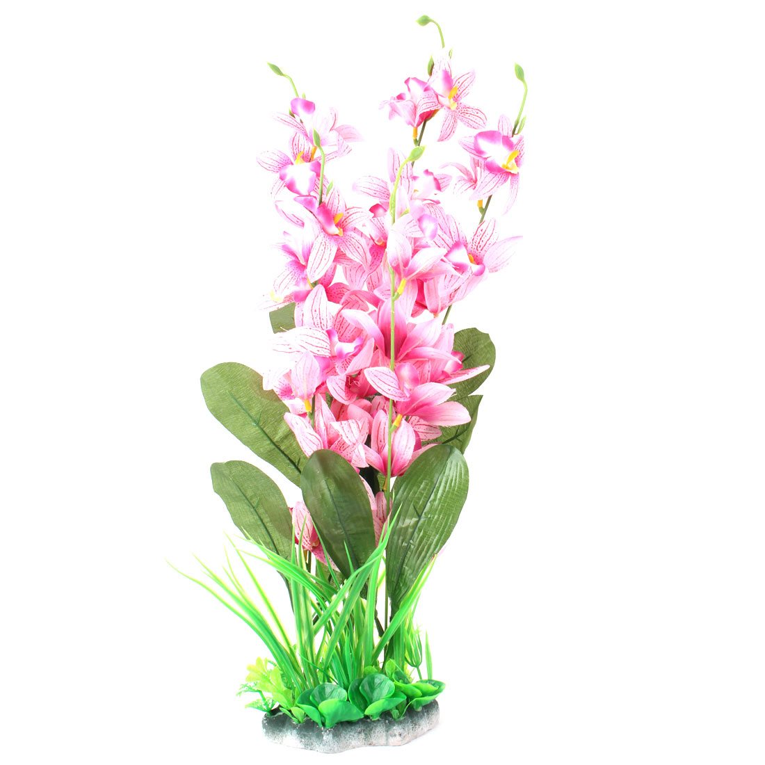 Aquarium Fish Tank Plastic Imitation Flower Plant Decor Colorful 48cm Height