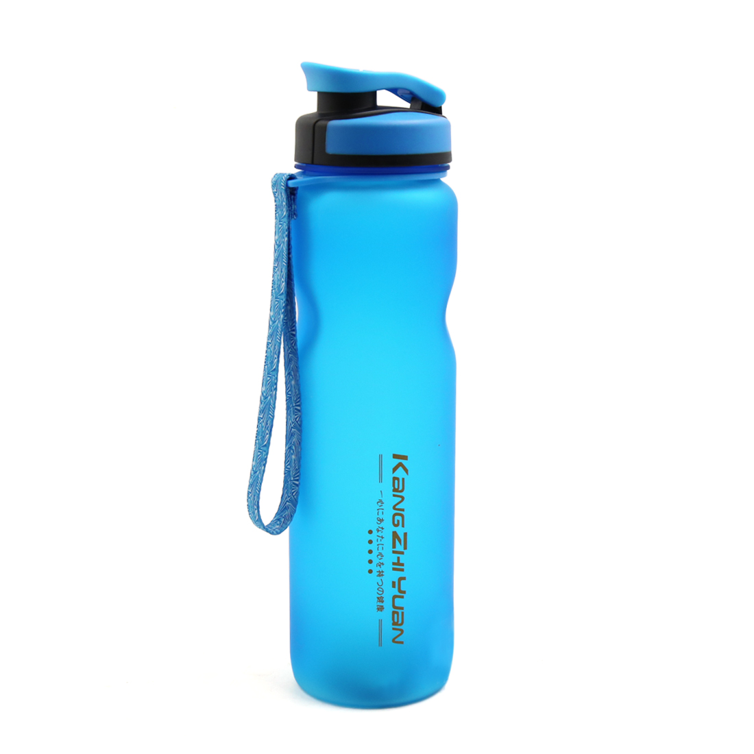 Blue Sports Drink Cup Traveling Water Bottle Healthy Plastic Large Size 36oz High Capacity