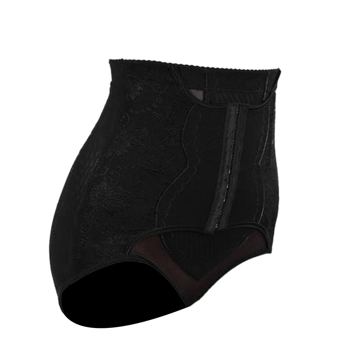 Women Black Size XXL High Waist Body Shaper Belly Control Shaping Shapewear Panty Underwear