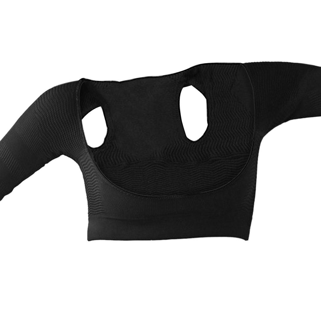 Black Half Sleeve Arms Shoulder Back Posture Corrector Support Brace Shapewear for Women