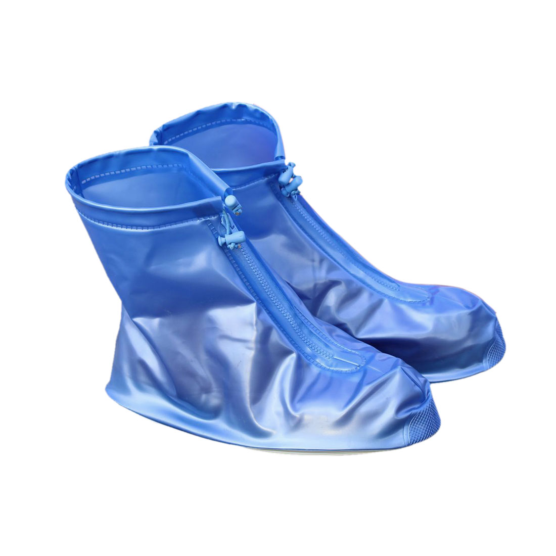 1 Pair Blue Size XL Unisex PVC Nonslip Reusable Waterproof Rain Shoes Cover Guard Overshoes Protection