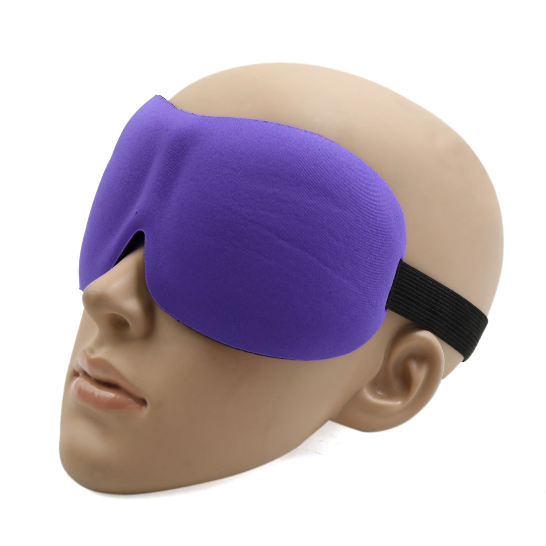 Travel 3D Eye Sleep Mask Padded Shade Cover Rest Relax Sleeping Blindfold Shield Purple