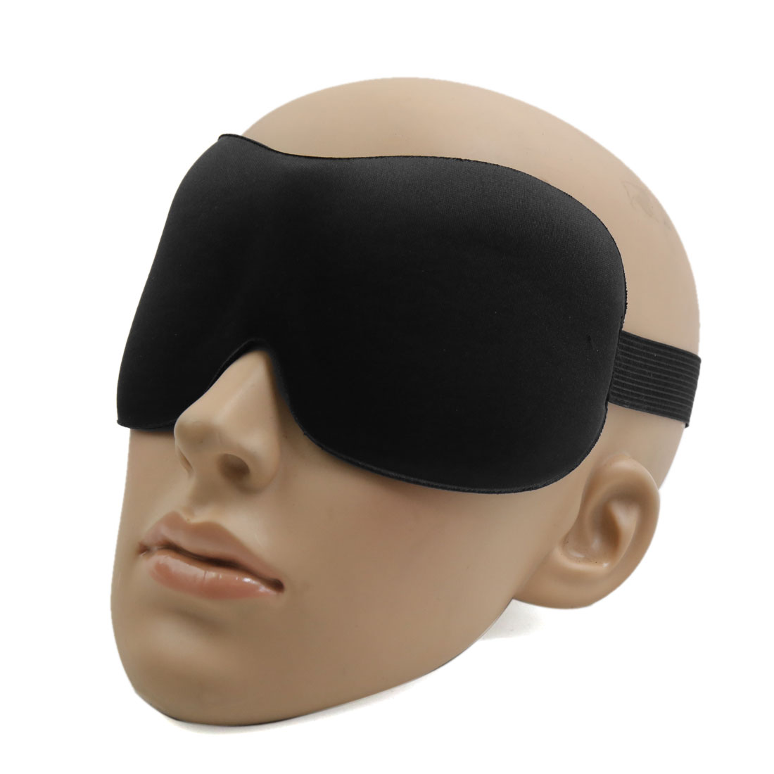 Travel 3D Eye Sleep Mask Padded Shade Cover Rest Relax Sleeping Blindfold Shield Black