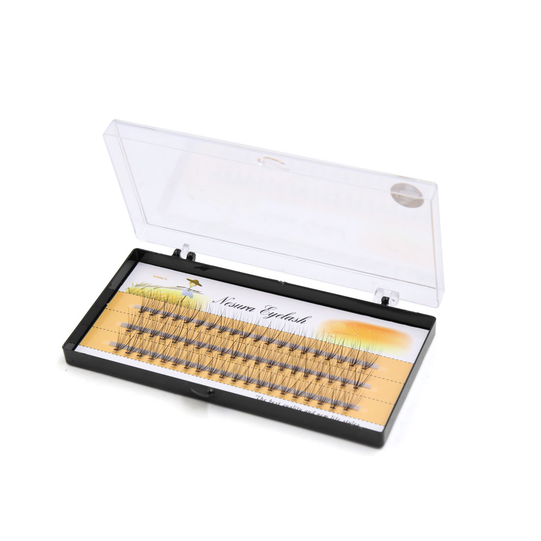 60 Pcs 12mm Long Natural Looking Curl Individual Cluster False Eyelashes Extension Cosmetic Tool