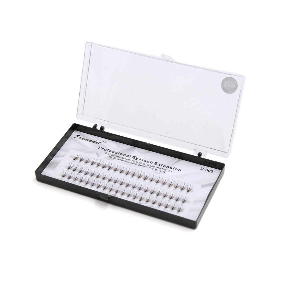 60 Pcs 8mm Long Professional Curl Individual Cluster False Eye Lashes Extension Makeup Tool
