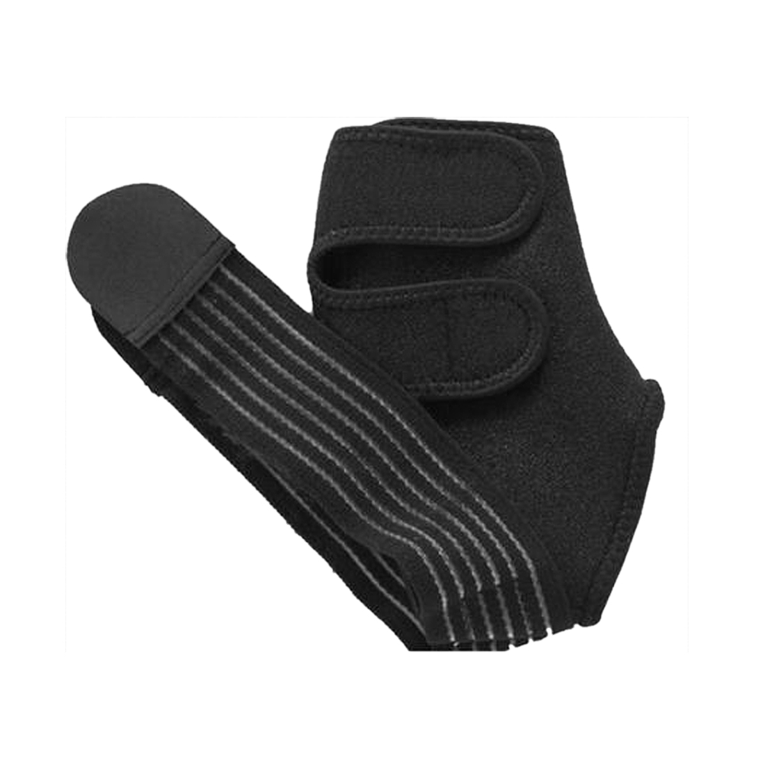 Unisex Adjustable Hook Loop Fastener Outdoor Gym Sports Ankle Support Strap Wrap Brace Guard Black