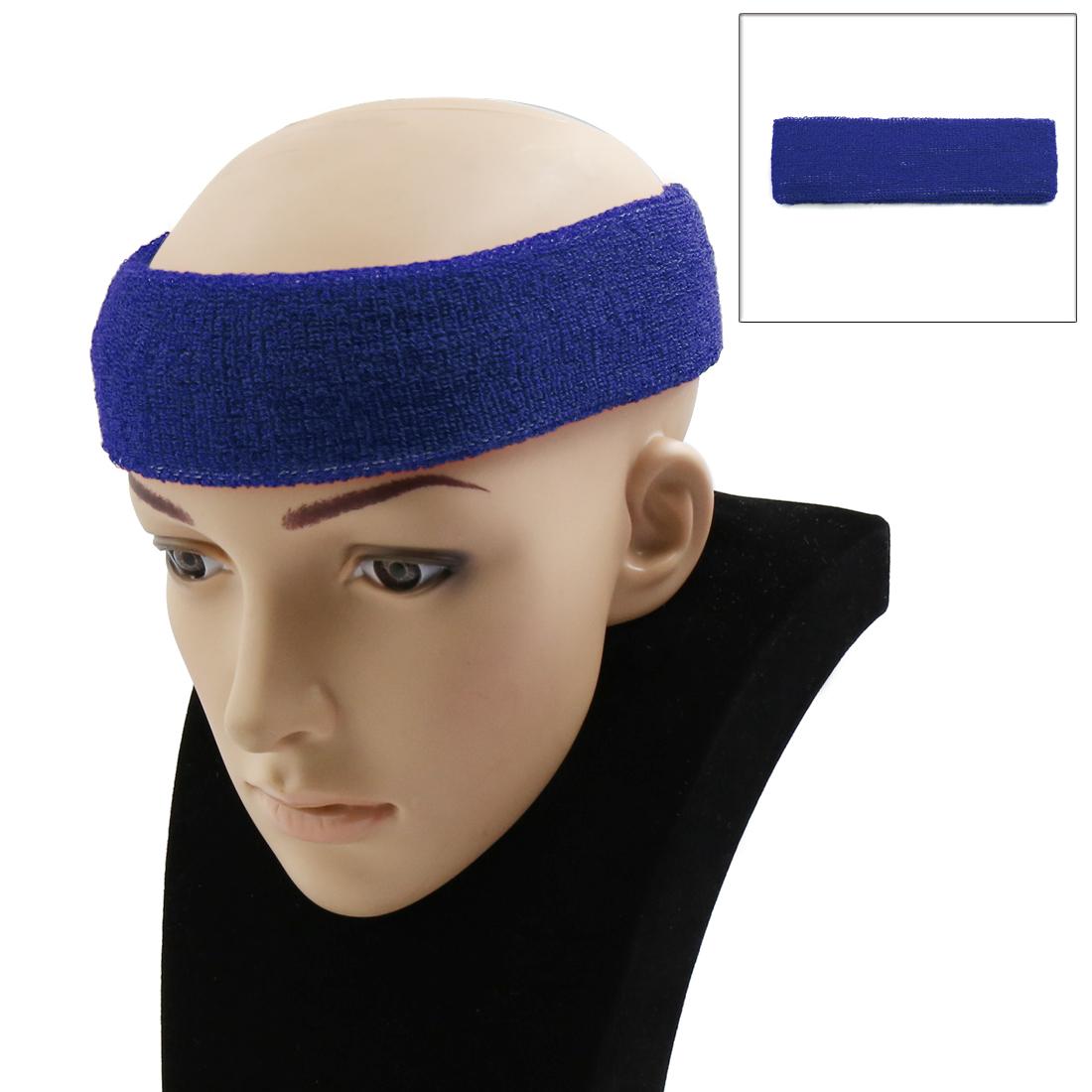 Blue Basketball Sports Headband Exercise Yoga Sweatband Elastic Stretch Head Wrap Protector Turban