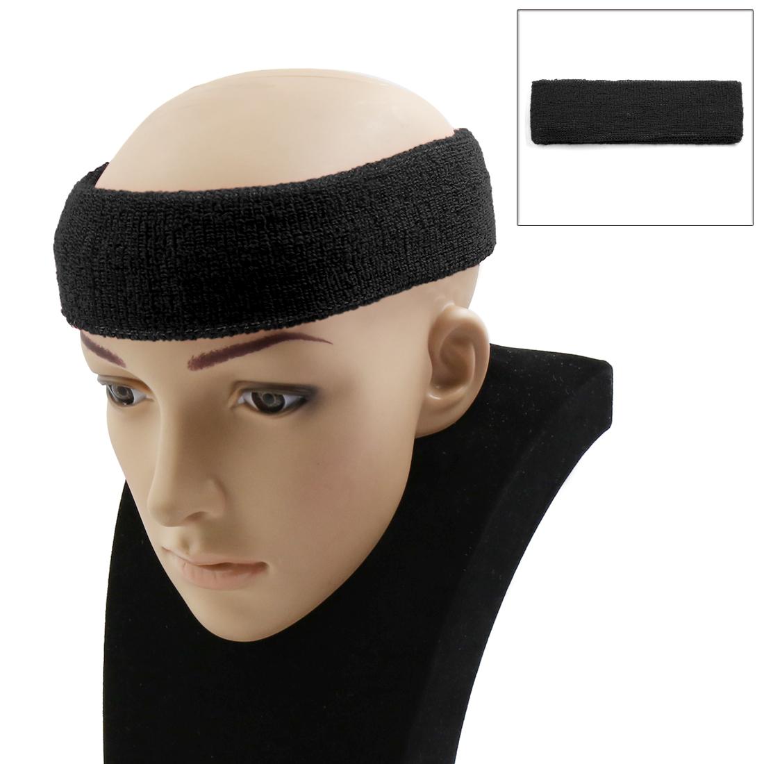 Black Basketball Sports Headband Exercise Yoga Sweatband Elastic Stretch Head Wrap Protector Turban