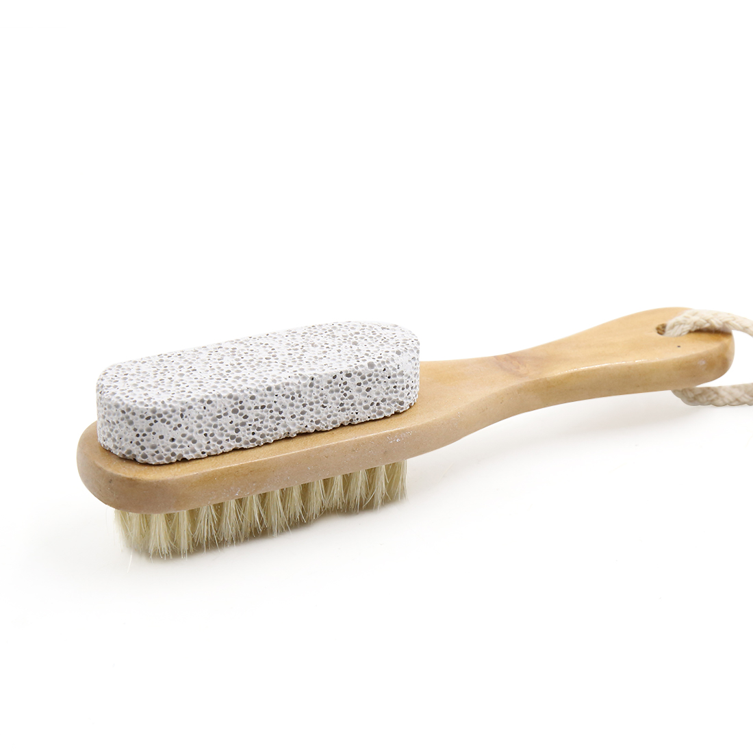 Pumice Bristle Wood Handle Foot Care Pedicure Calluses Dry Hard Dead Skin Exfoliates Brush Remover Scrubber
