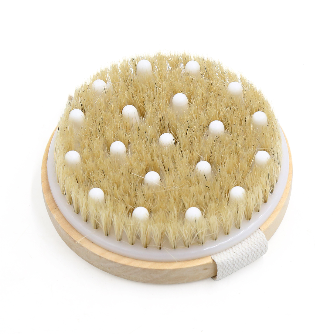 Round Wooden Soft Bristle Ball Trigger Point Hand Foot Relaxing Bath Shower Scrubber Body Massage Brushes