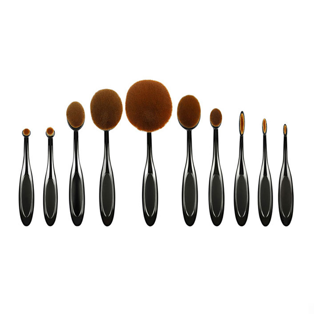 10 Pcs Ladies Professional Cosmetic Makeup Toiletry Toothbrush Blush Brushes Set Eyeshadow Powder Tools