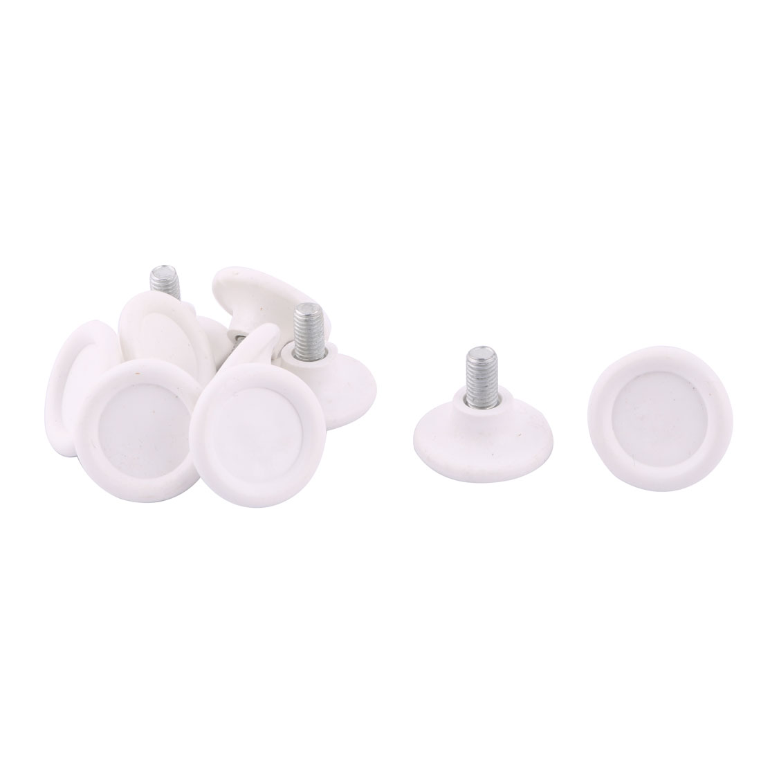 Home Office Plastic Base Round Adjustable Table Furniture Leg Cover Leveling Foot 10pcs