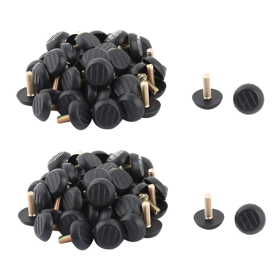 School Plastic Base Adjustable Non-slip Furniture Leg Fitting Leveling Foot 100pcs