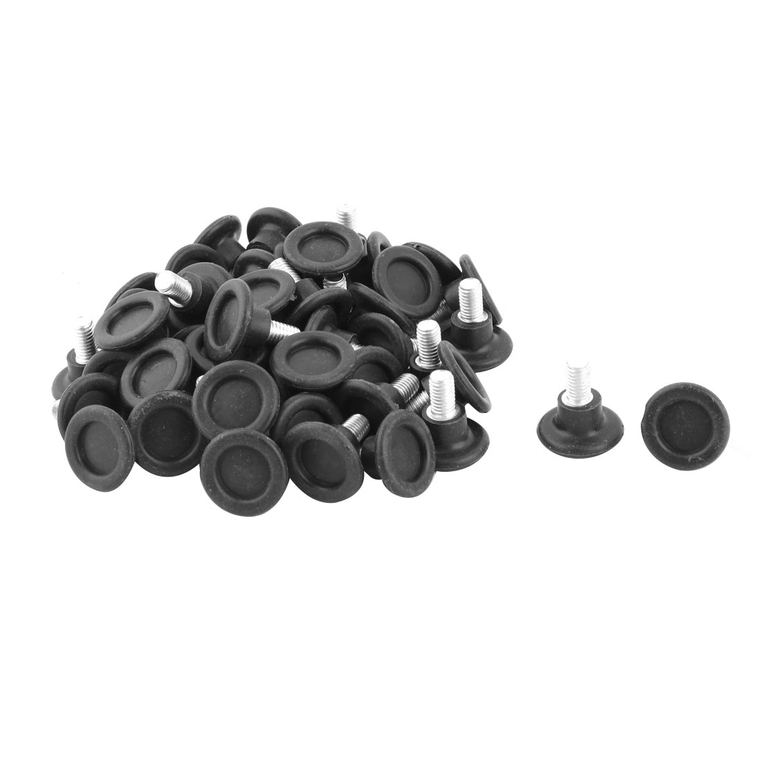Dorm Metal Round Adjustable Non-slip Chair Wardrobe Leg Fitting Leveling Foot 50pcs