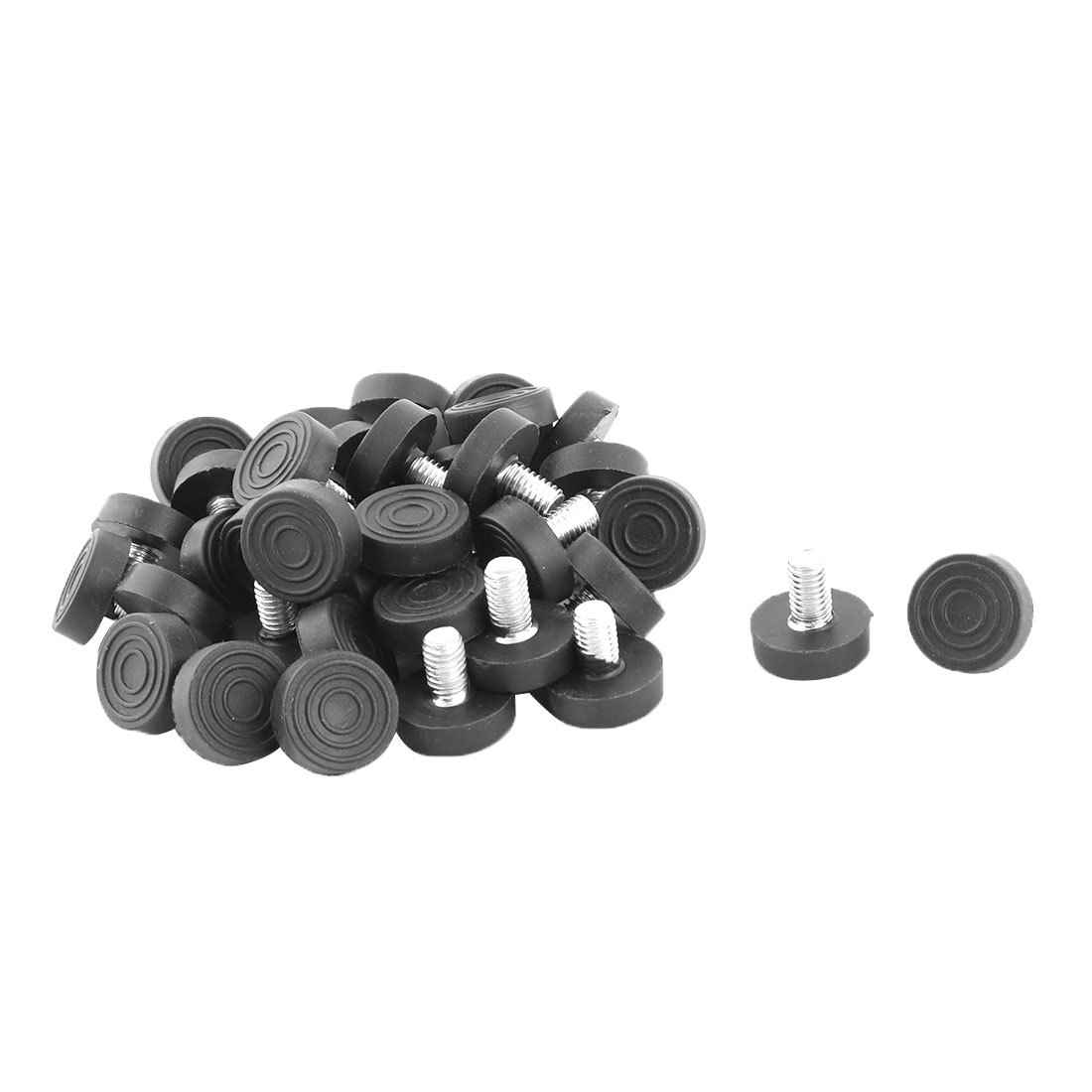 Office Plastic Round Adjustable Non-slip Furniture Leg Leveling Foot 40 Pcs