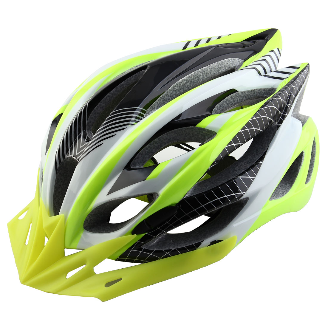 Patent Authorized Adult Unisex Removable Visor Cycling Cap Bicycle Hat Adjustable Safety Bike Helmet Fluorescent Green
