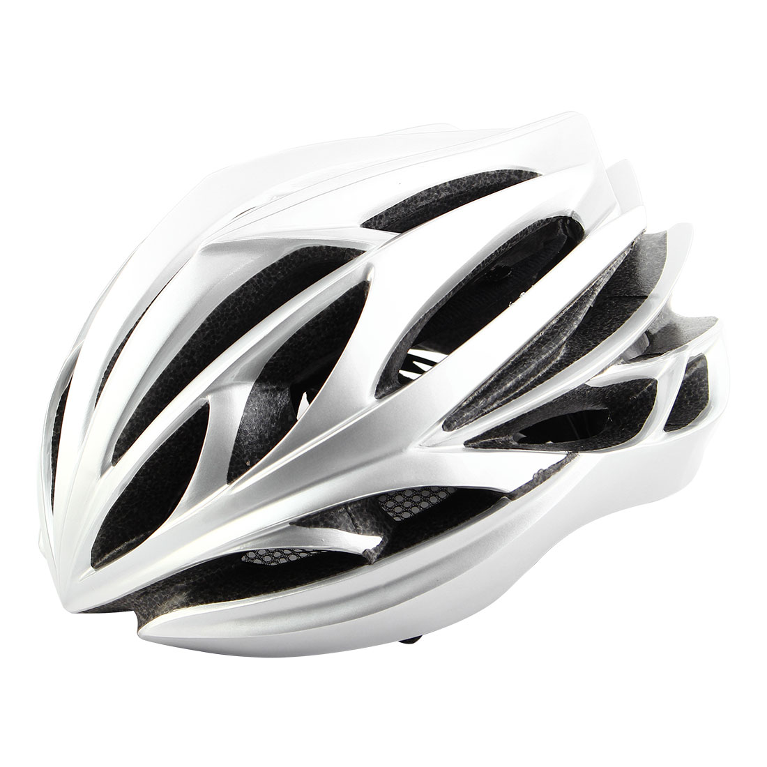 Patent Authorized Adult Unisex 22 Holes Cycling Cap Bicycle Hat Safety Protector Adjustable Bike Helmet Silver Tone