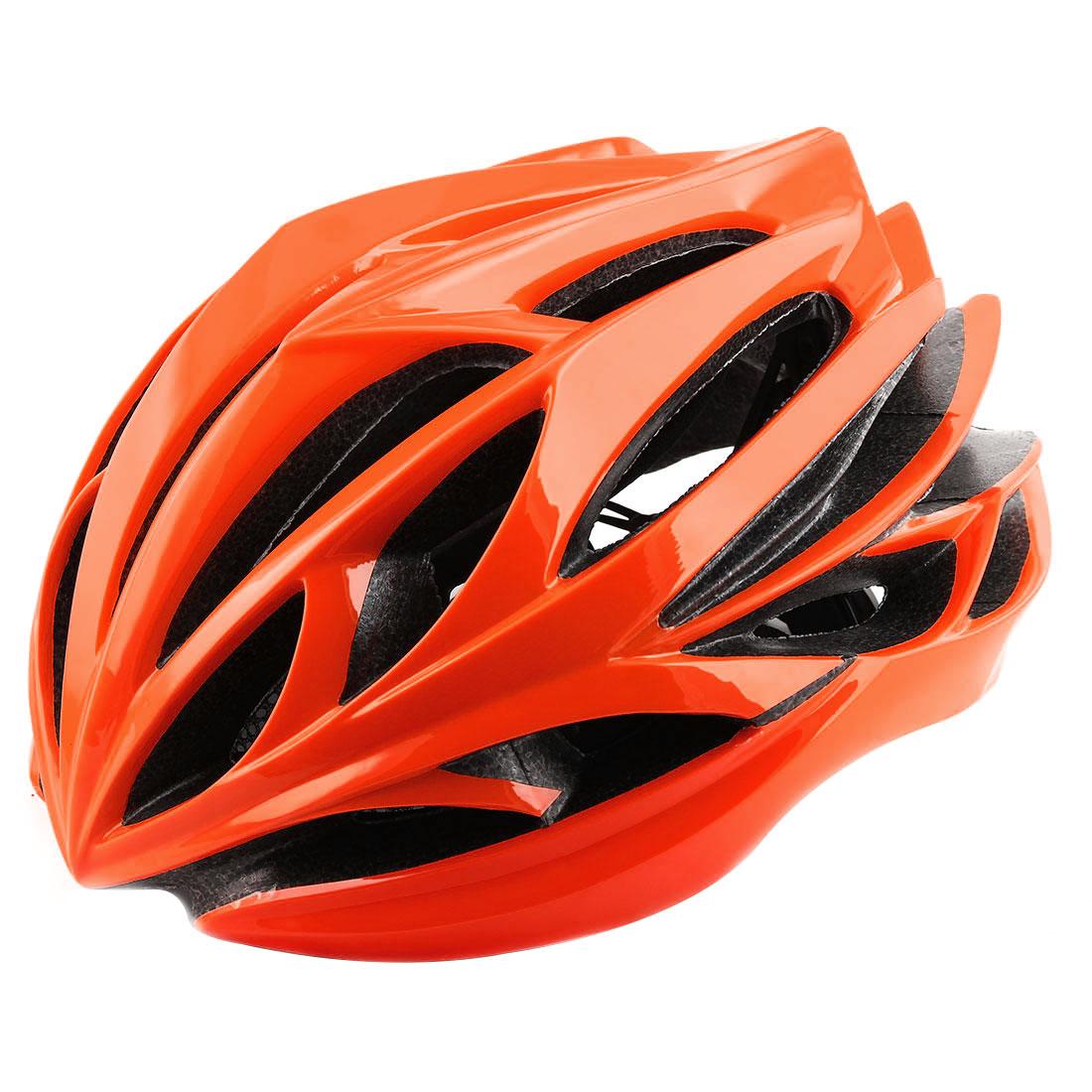 Patent Authorized Adult Unisex 22 Holes Cycling Cap Bicycle Hat Safety Protector Adjustable Bike Helmet Orange