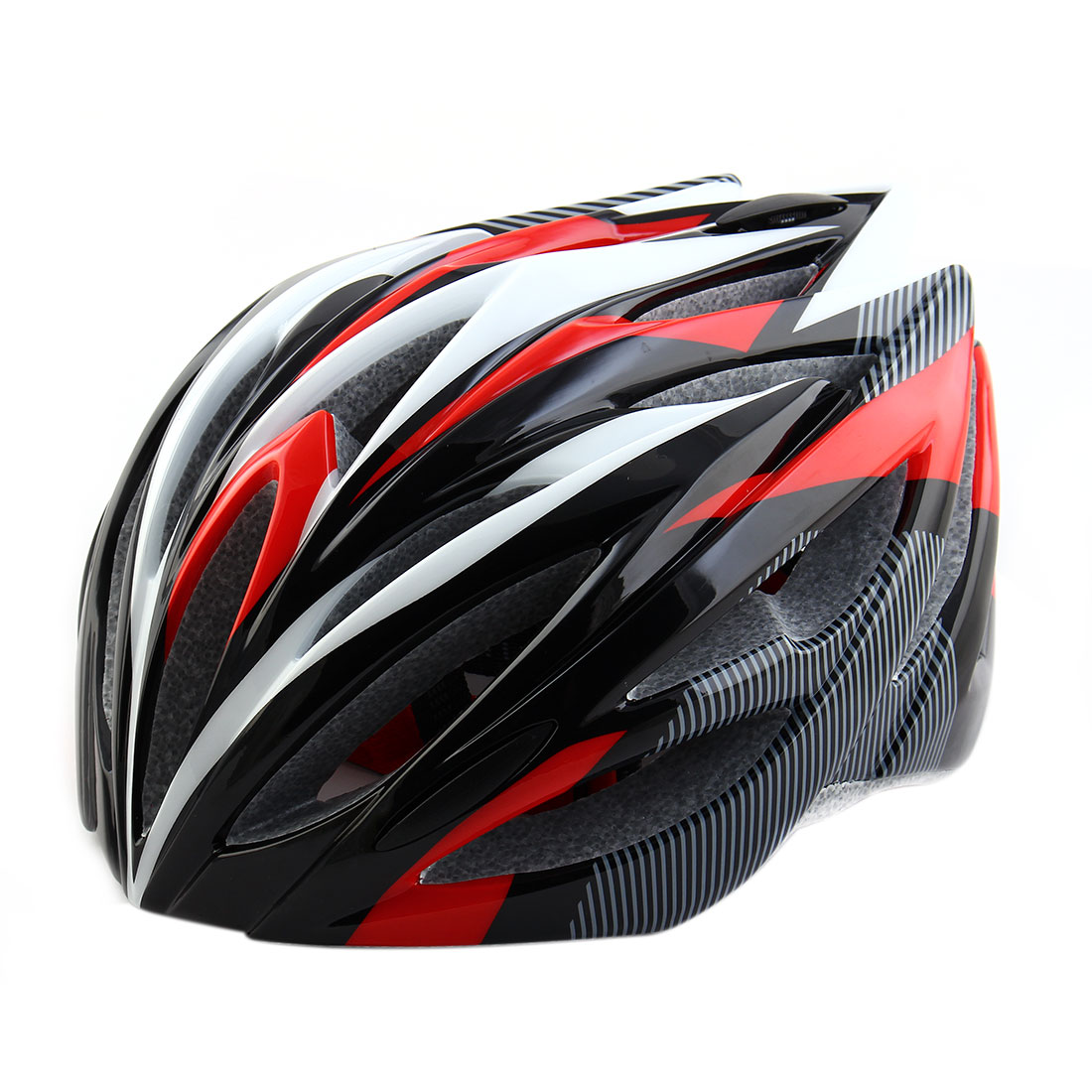 Patent Authorized PC Shell 21 Holes Cycling Cap Head Safety Protector Bicycle Hat Adjustable Cycling Bike Helmet Red