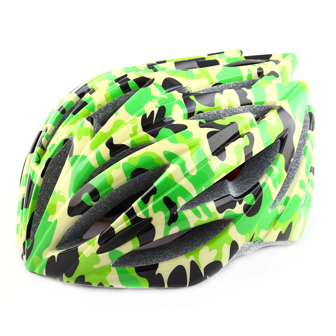 Patent Authorized PC Shell 21 Holes Cycling Cap Head Safety Protector Bicycle Hat Adjustable Cycling Bike Helmet Green