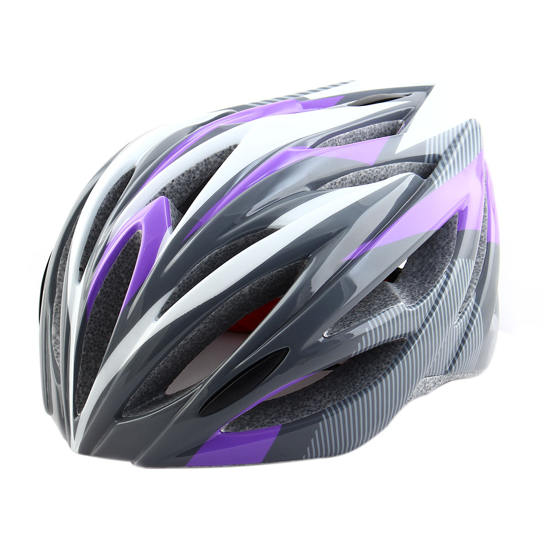 Patent Authorized PC Shell 21 Holes Cycling Cap Head Safety Protector Bicycle Hat Adjustable Cycling Bike Helmet Purple