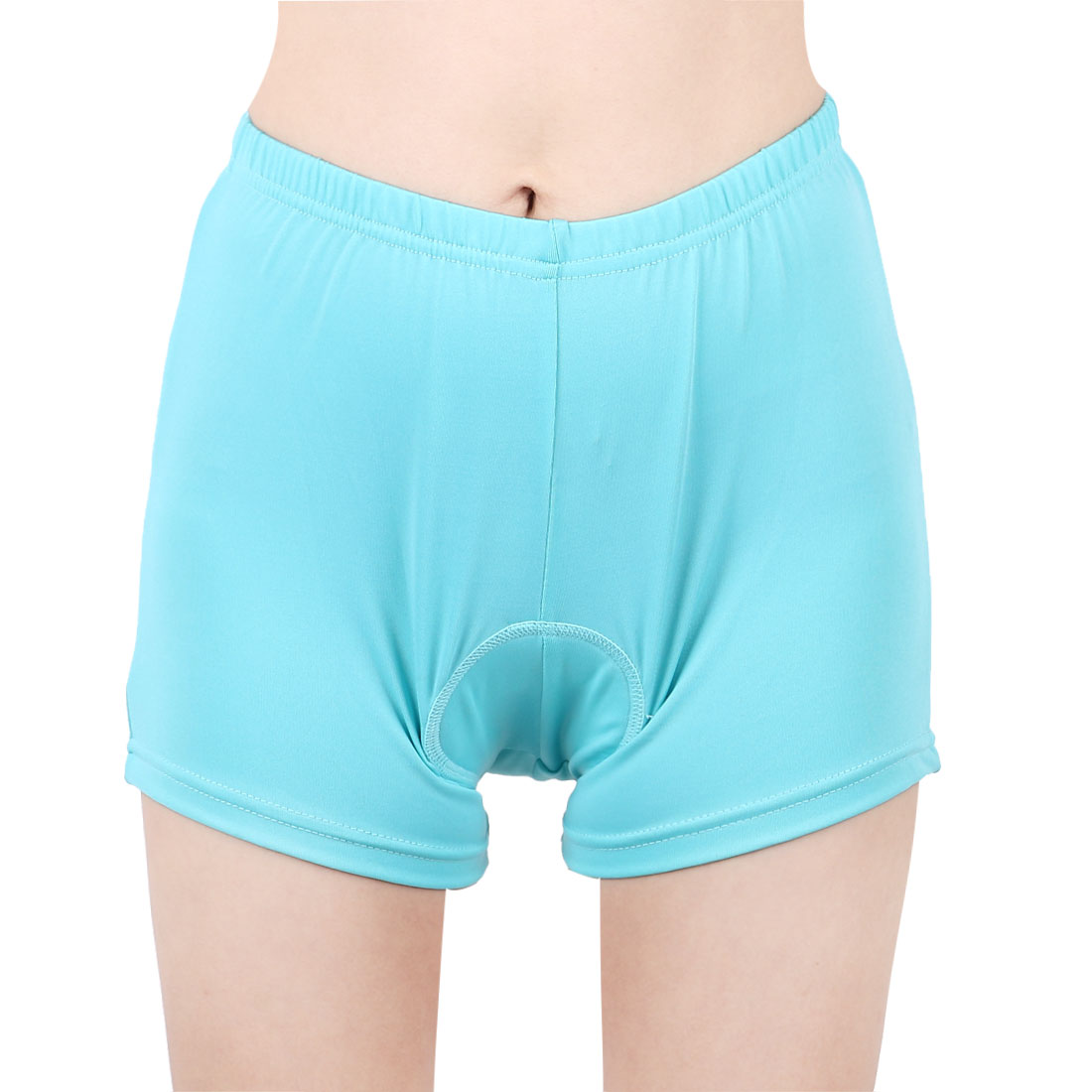 Women Bicycle Polyester Fiber Breathable 3D Padded Cycling Shorts Underwear Bike Short Blue XL/S (US 6)