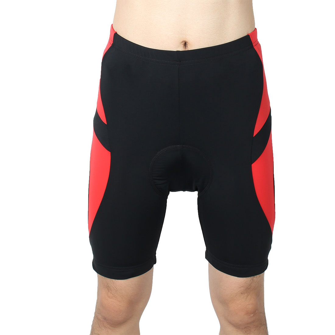 Men Outdoor Bicycle Underwear 3D Padded Breathable Cycling Sport Shorts Half Pants Black Red L (W 36)