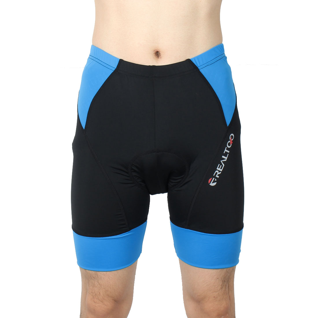 Men Summer Sports Bicycle Underwear 3D Padded Breathable Cycling Shorts Black Blue L (W 36)