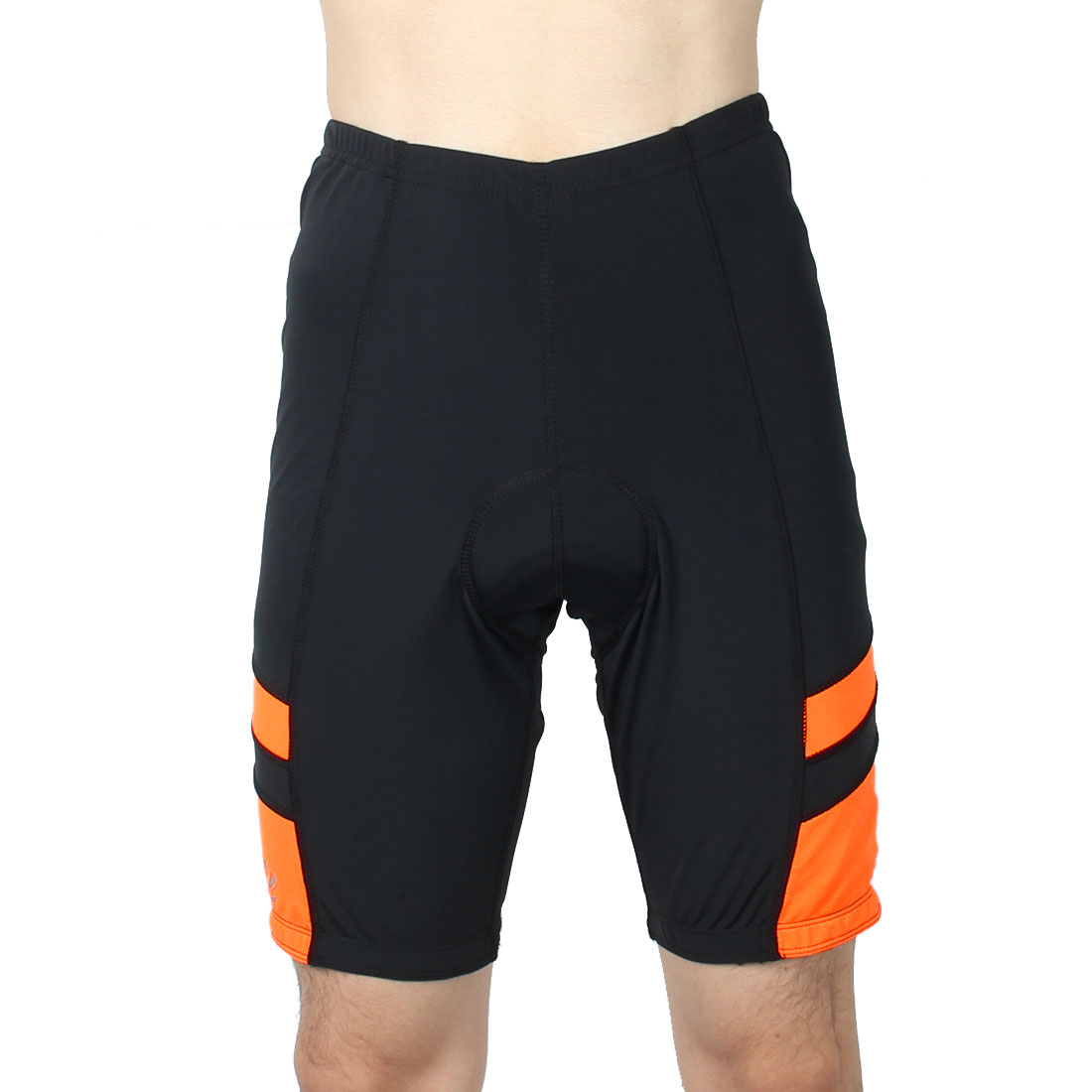 Men Polyester Outdoor Riding Bicycle Biking Breathable Underpants Half Pants Cycling Shorts Orange XL