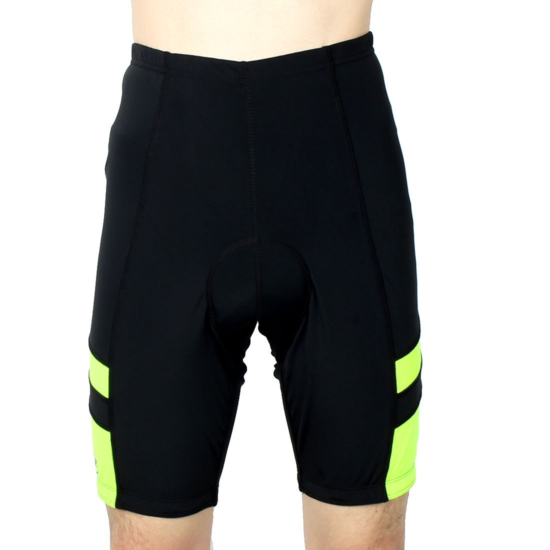 Men Polyester Outdoor Riding Bicycle Biking Breathable Underpants Half Pants Cycling Shorts Fluorescence Yellow S