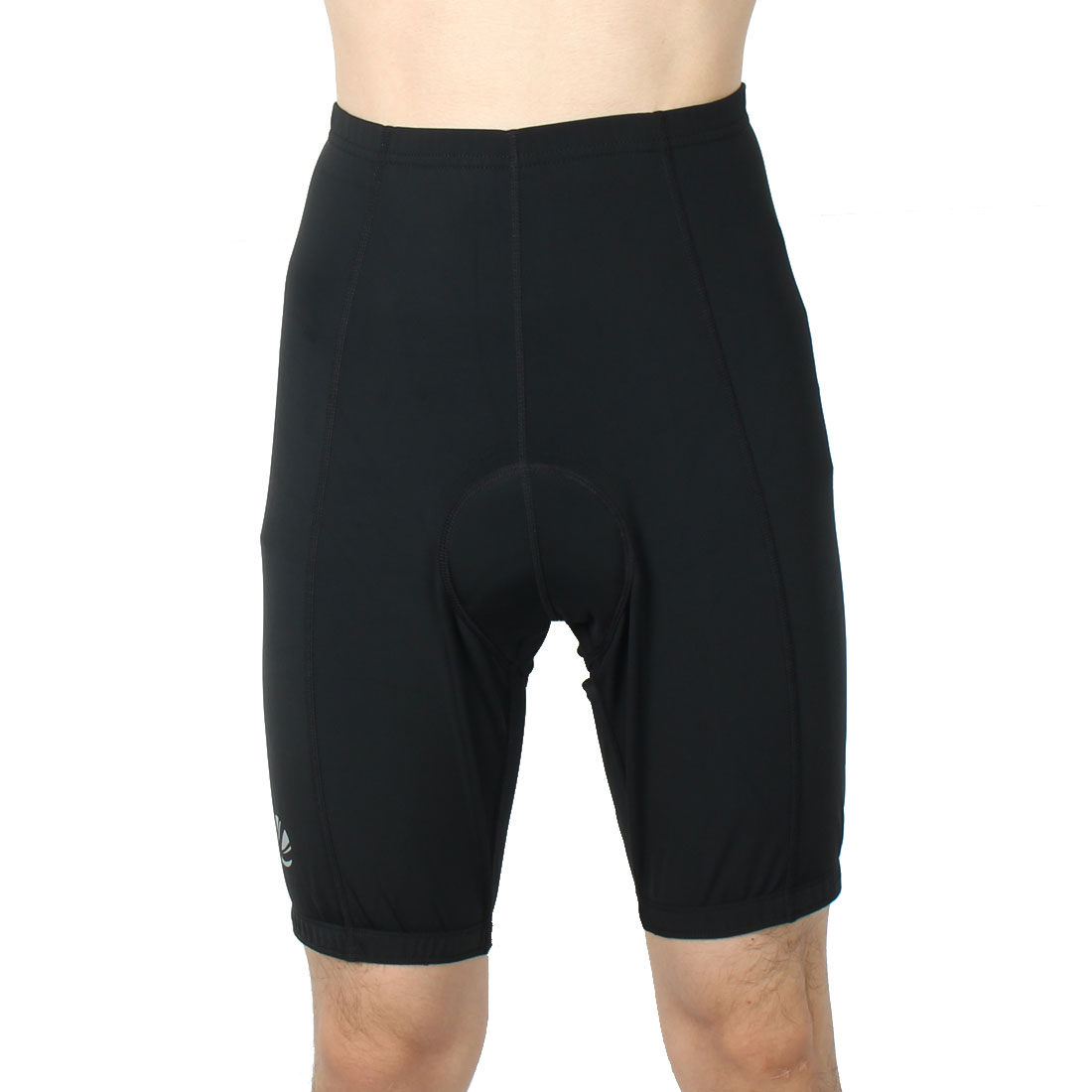 Men Polyester Outdoor Riding Bicycle Biking Breathable Underpants Half Pants Cycling Shorts Black XL