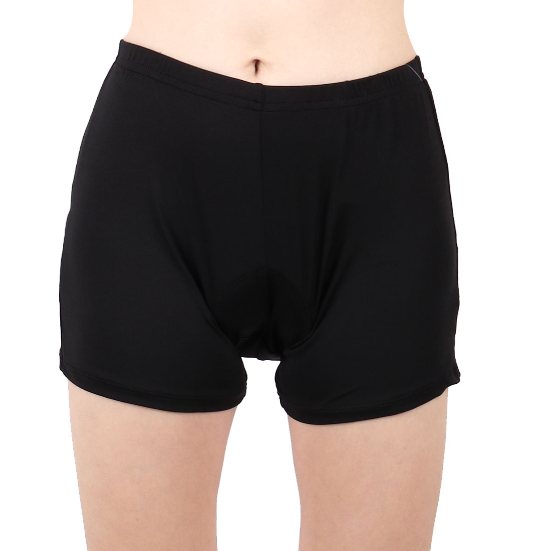 Women Polyester Outdoor Riding Bicycle Biking Underpants Cycling Shorts Black L/S (US 4)